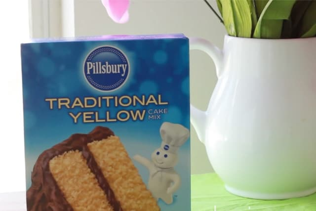 traditional yellow cake mix in a box for mini oreo cupcake recipe