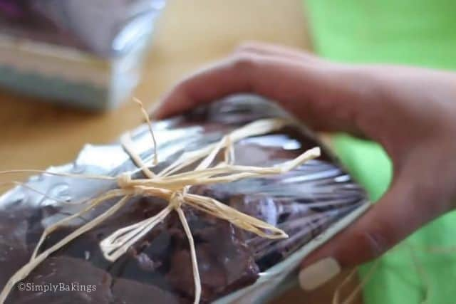 wrapped buttermilk chocolate bread and perfect as a gift