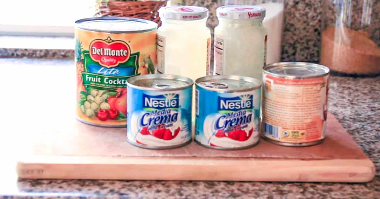 ingredients for Filipino Fruit Salad recipe
