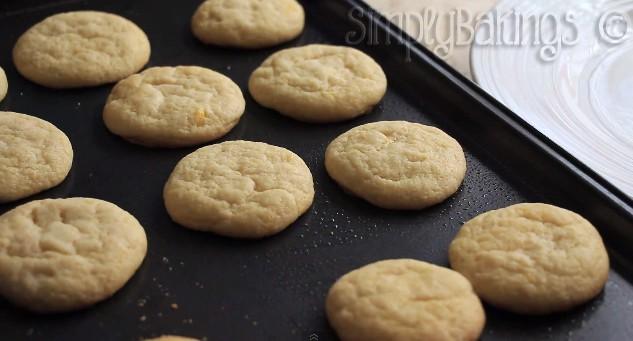 Lemon Cookies on a pan