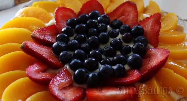 White Chocolate Fruit Tart close-up shot