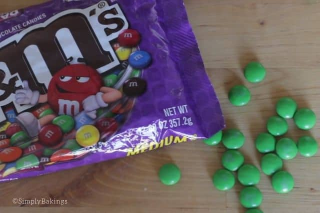 green m & m's