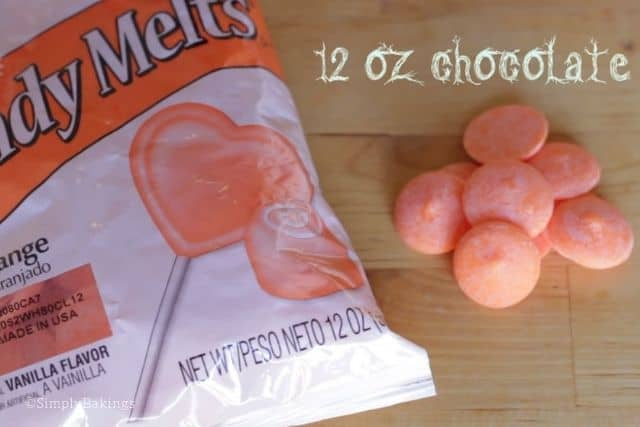 orange candy melts for the pretzel pumpkins