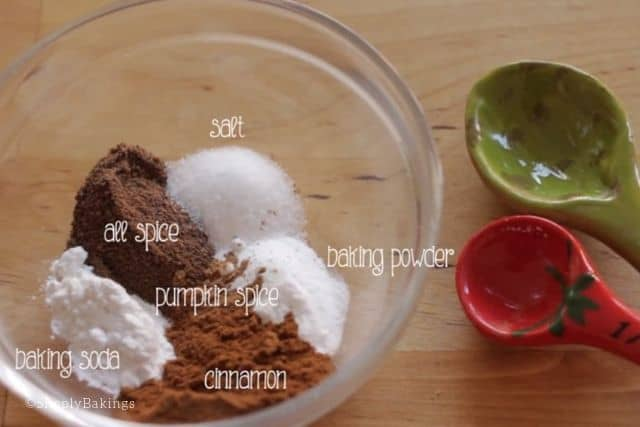 ingredients for mini pumpkin spice muffins recipe