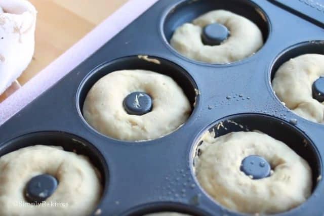 freshly baked vanilla donuts