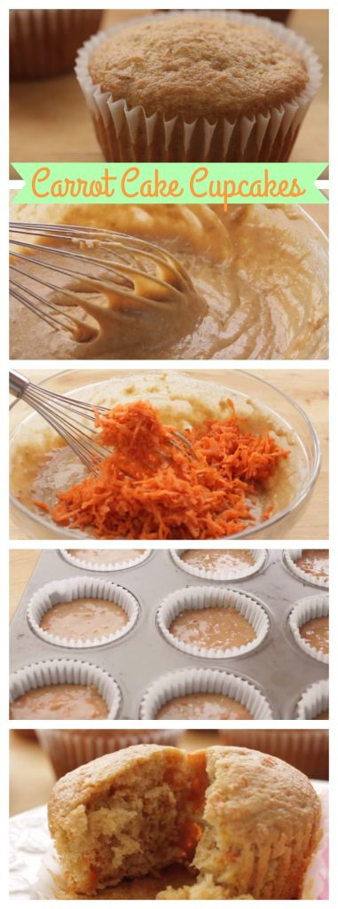 Carrot Cake Cupcakes step by step guide