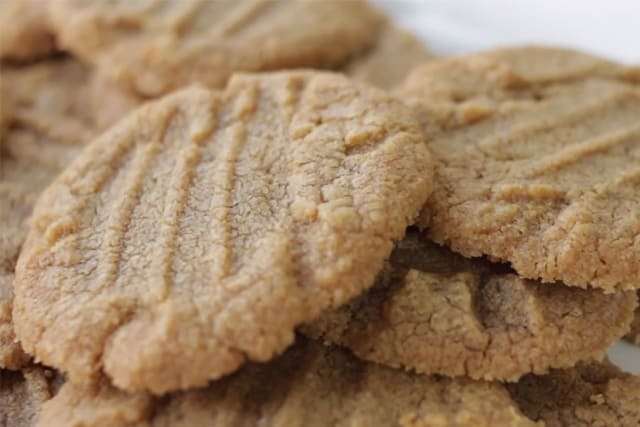 closeup of cookie butter cookies