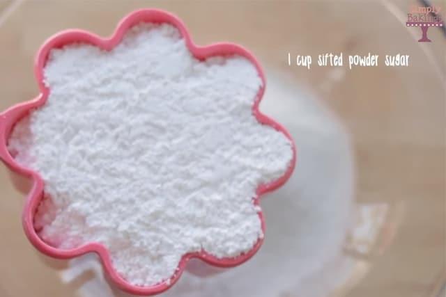 powdered sugar for Jello cookies