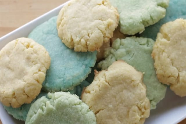 delicious Jello cookies on a white plate