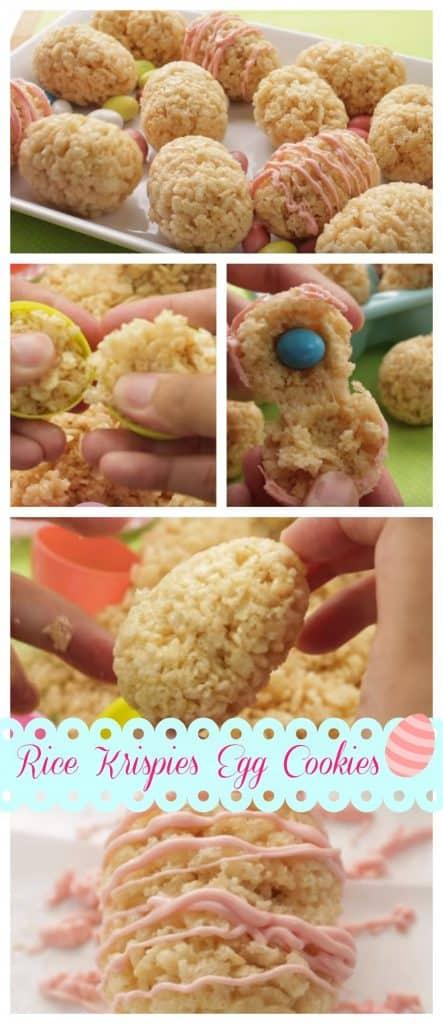 Rice Krispies Egg Cookies step by step guide