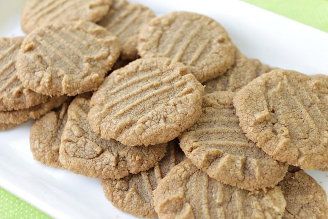 Cookie Butter Cookies on a white plate