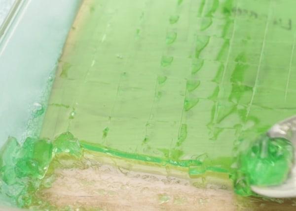 sliced gelatin