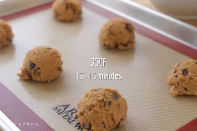 ready to bake ice cream sandwich cookies on a cookie tray