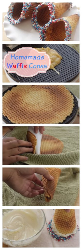 Homemade Waffle Cones step by step guide