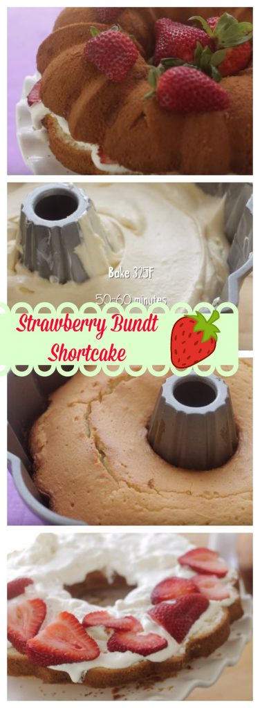 Strawberry Bundt Shortcake step by step guide