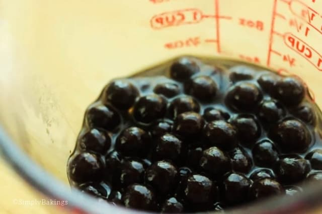 cooked boba for avocado milk shake recipe