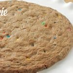 freshly baked cookie pizza