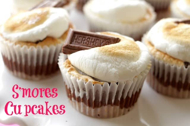 freshly baked smores cupcakes