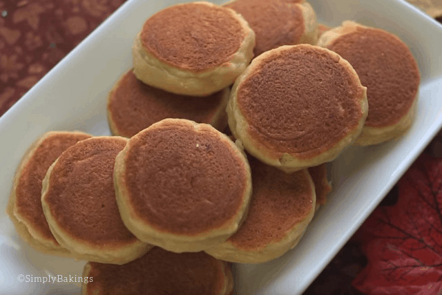 freshly cooked Apple Pancake cookies on a white plate