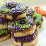 Halloween donuts perfectly glazed with chocolate melt