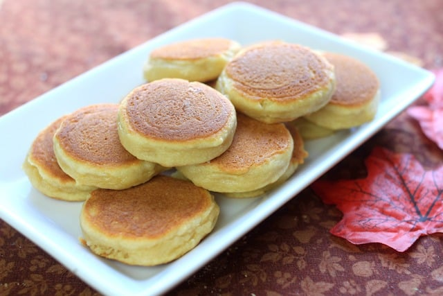 Apple Pancake Cookies on a white plate