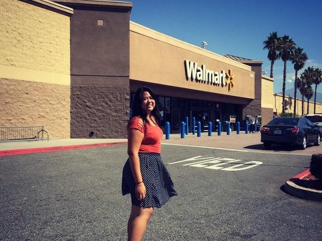 shopping for chocolates at Walmart