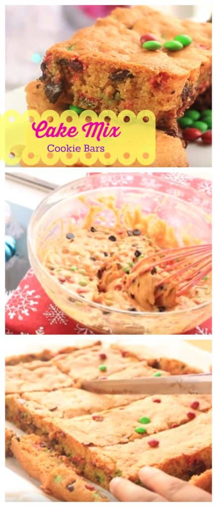 Cake Mix Cookie Bars step by step photo guide