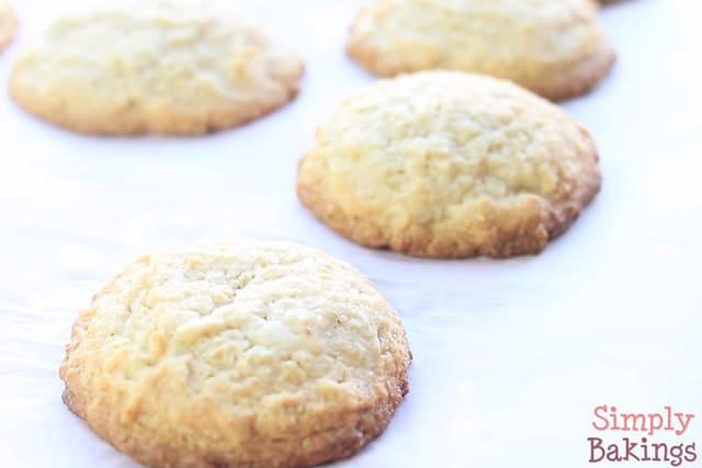 freshly baked eggnog cookies