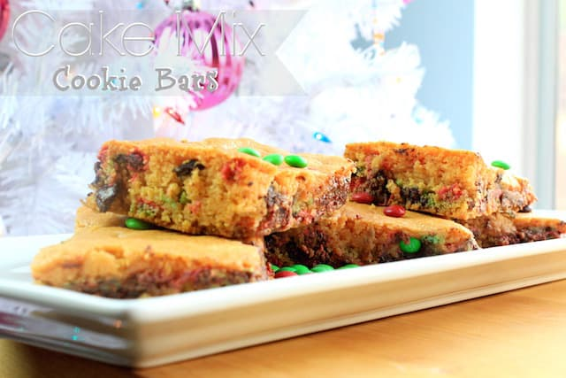 cake mix cooie bars