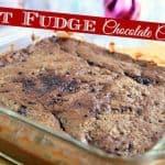 freshly baked hot fudge chocolate cake