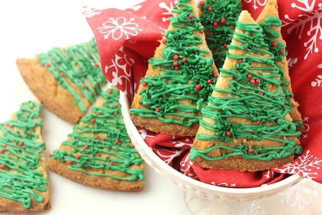Christmas Tree Shortbread Cookies