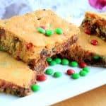 Christmas Cake Mix Cookie Bars