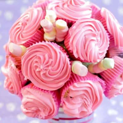 Blueberry Cupcake Bouquet