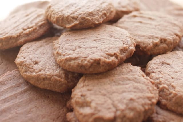 Nutella cookies closeup shot