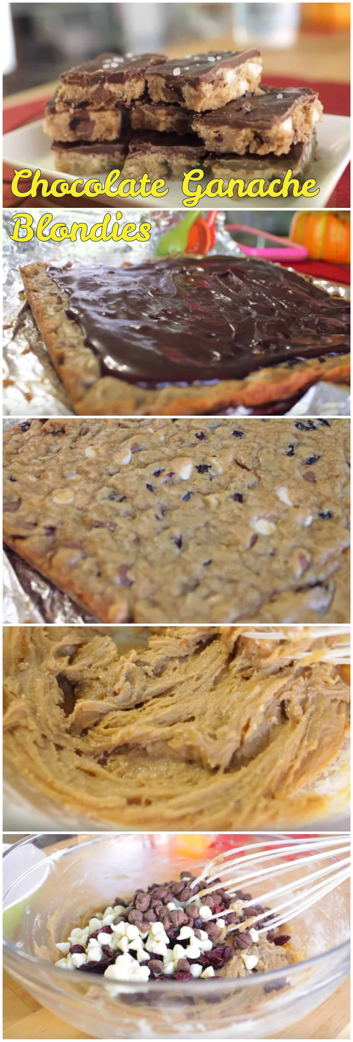 Chocolate Ganache Blondies - Simply Bakings