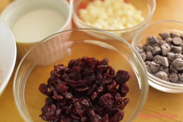 ingredients for 4 cookies in one dough recipe