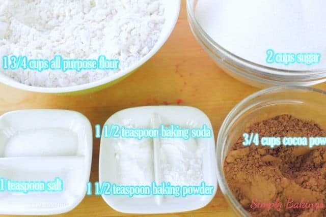 dry ingredients of the homemade cake mix
