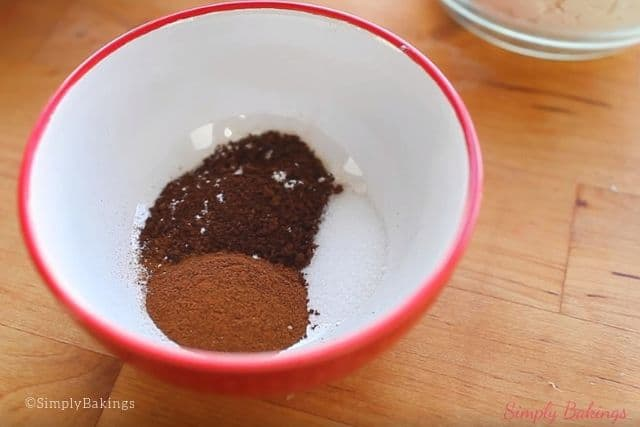 cinnamon, salt and coffee powder for the mocha cinnamon cake recipe