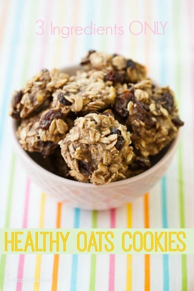Healthy oat cookies in a bowl