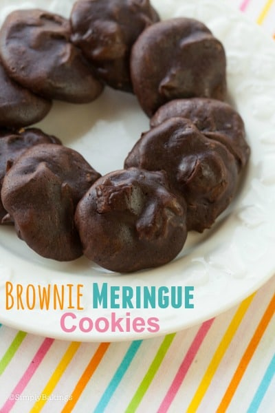 brownie meringue cookes