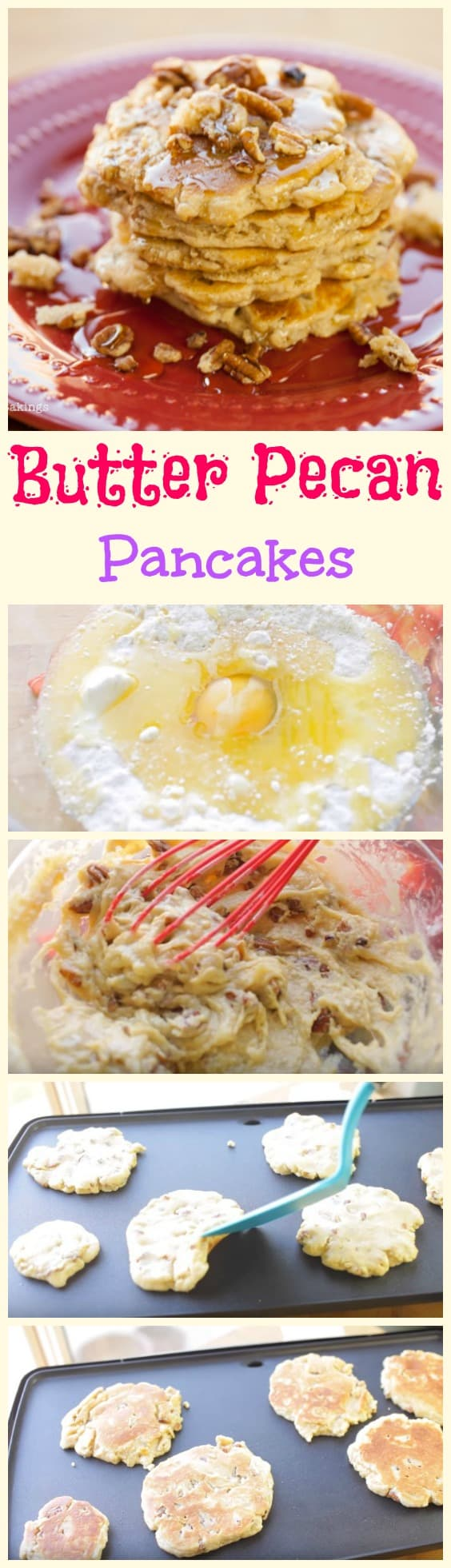 Butter pecan pancakes step by step guide