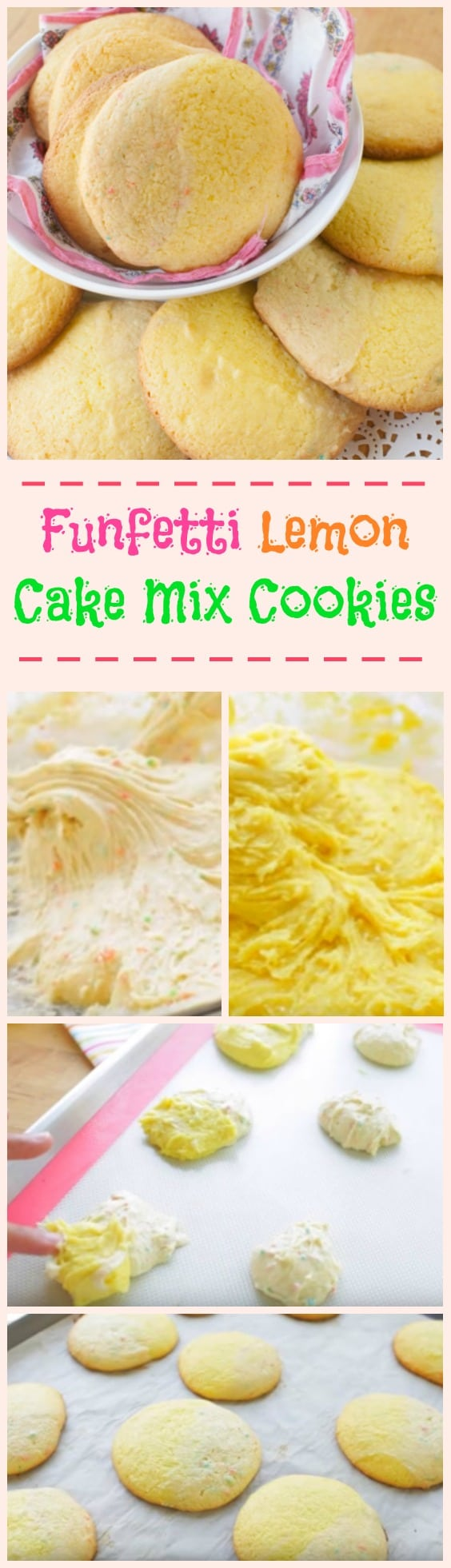 Funfetti Lemon Cake Mix Cookies step by step guide