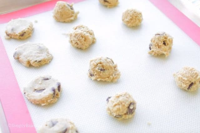 ready to bake vegan mini chocolate chip cookies