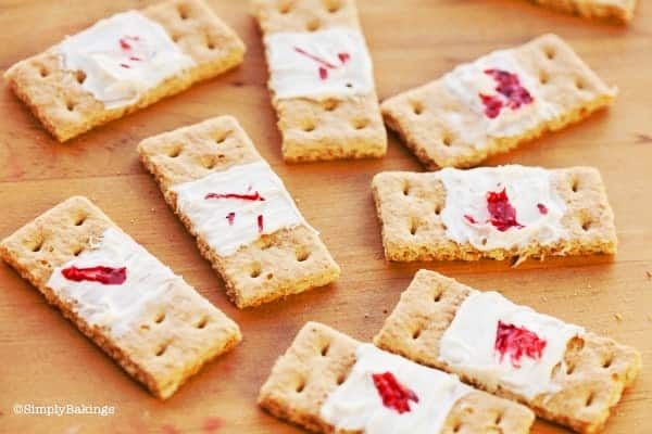 Edible bandaid made of graham crackers