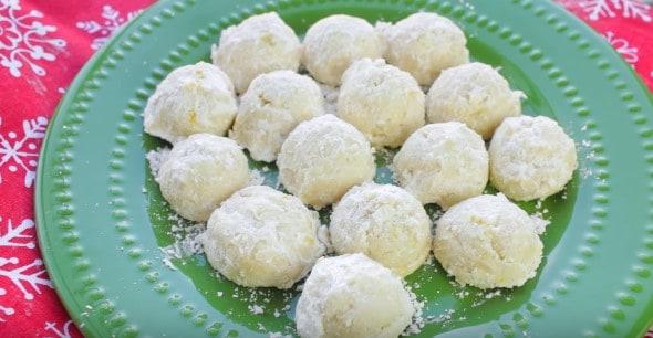 Snowball Lemon Drop Cookies
