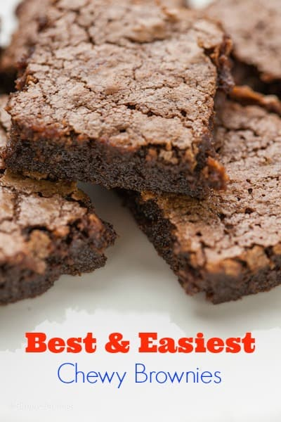 BEST & EASIEST brownies you will ever make! Includes Video Tutorial