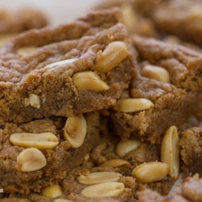 Fool Proof Vegan Peanut Butter Blondies