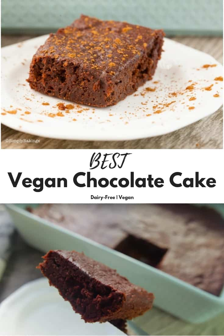 Vegan Chocolate Cake | Simply Bakings | Healthy, Eggless, and Delicious! | Includes Video Tutorial