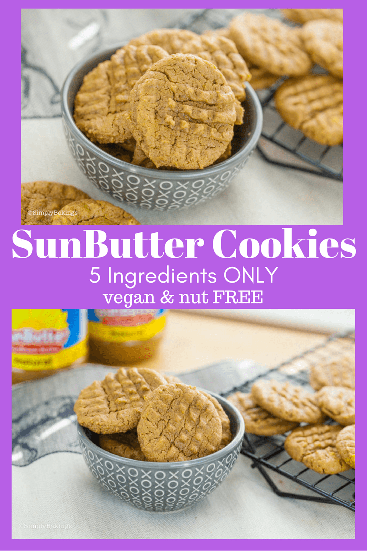 5 Ingredient SunButter Cookies. NUT & DAIRY FREE | Includes a video tutorial