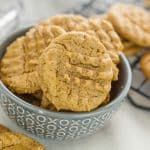 Dairy & NUT FREE cookies in a gray bowl